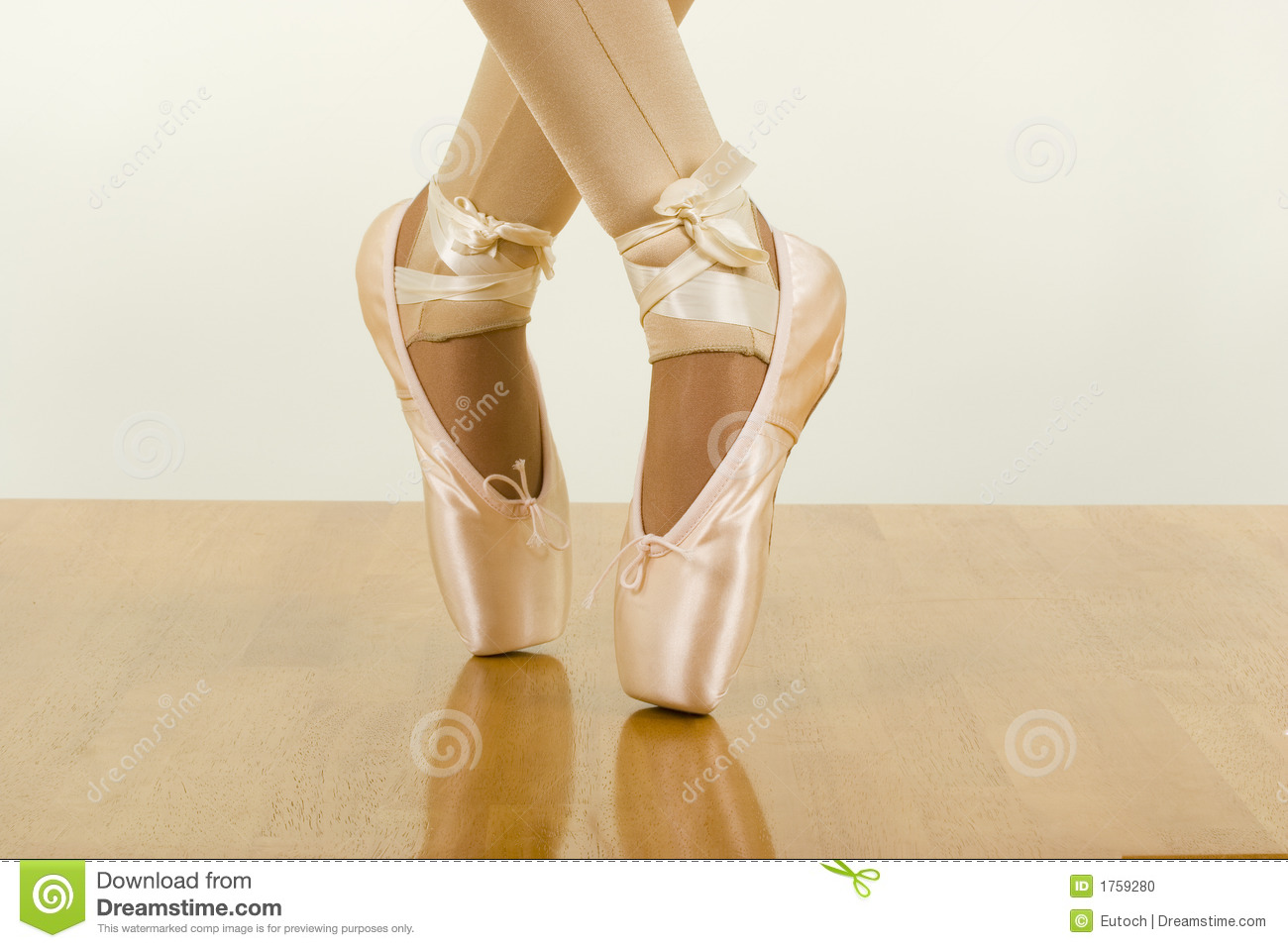 Ballet Workout Tiptoe Stock Image