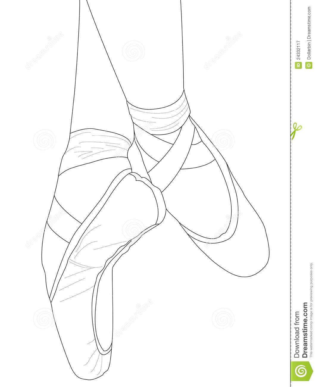 Ballet Toe Shoes Clipart