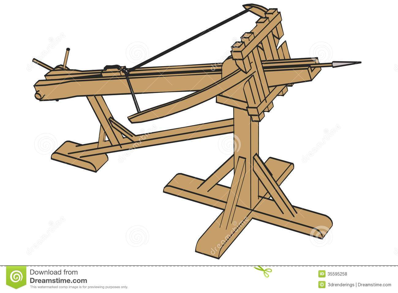 Ballista Weapon Royalty Free Stock Photos - Image: 35595258
