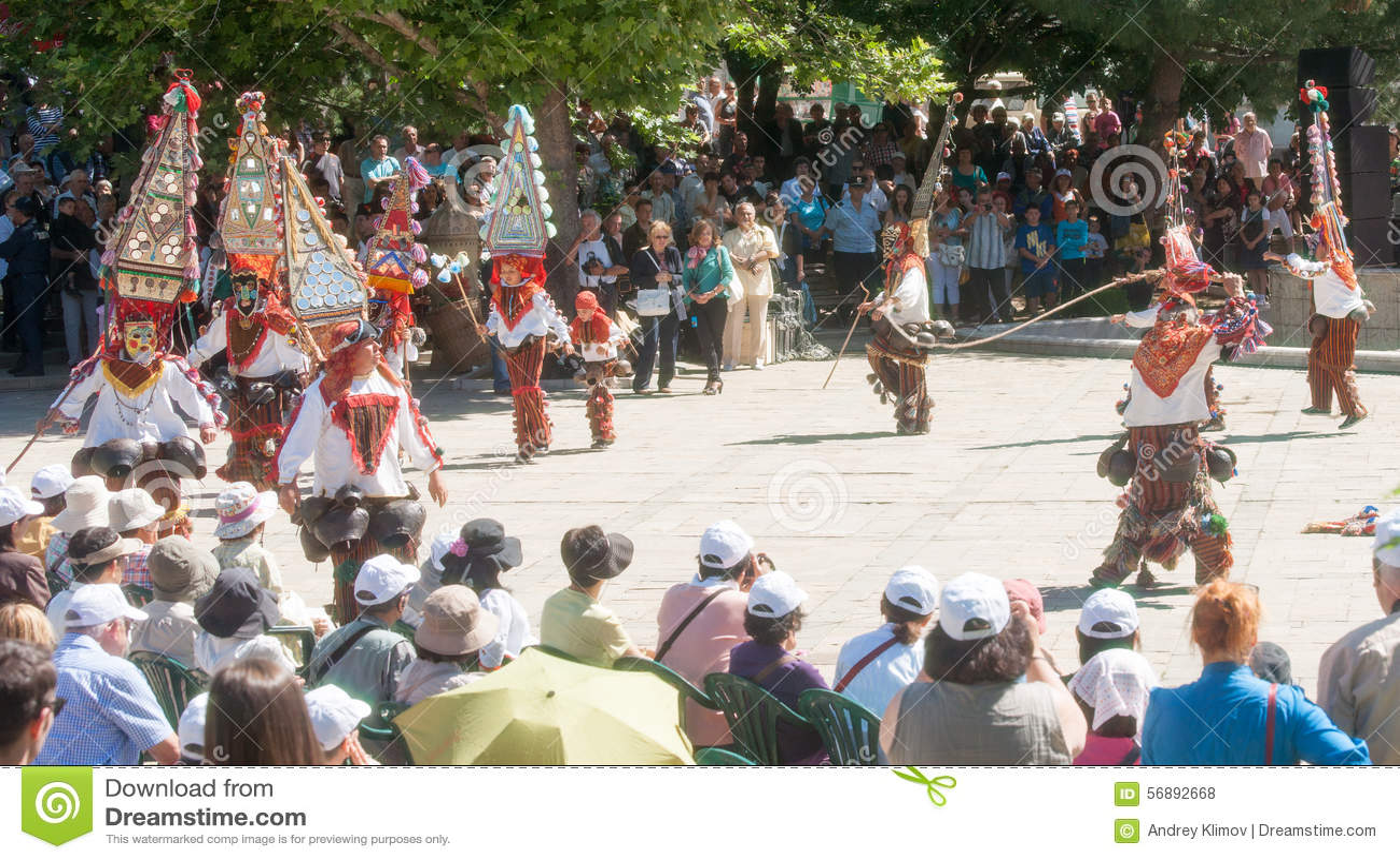 Ballo dei pastori al festival delle rose in Bulgaria