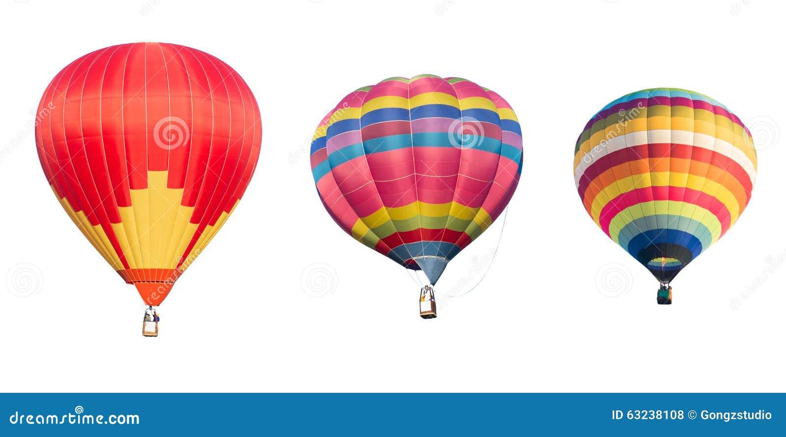 Ballon à air chaud coloré