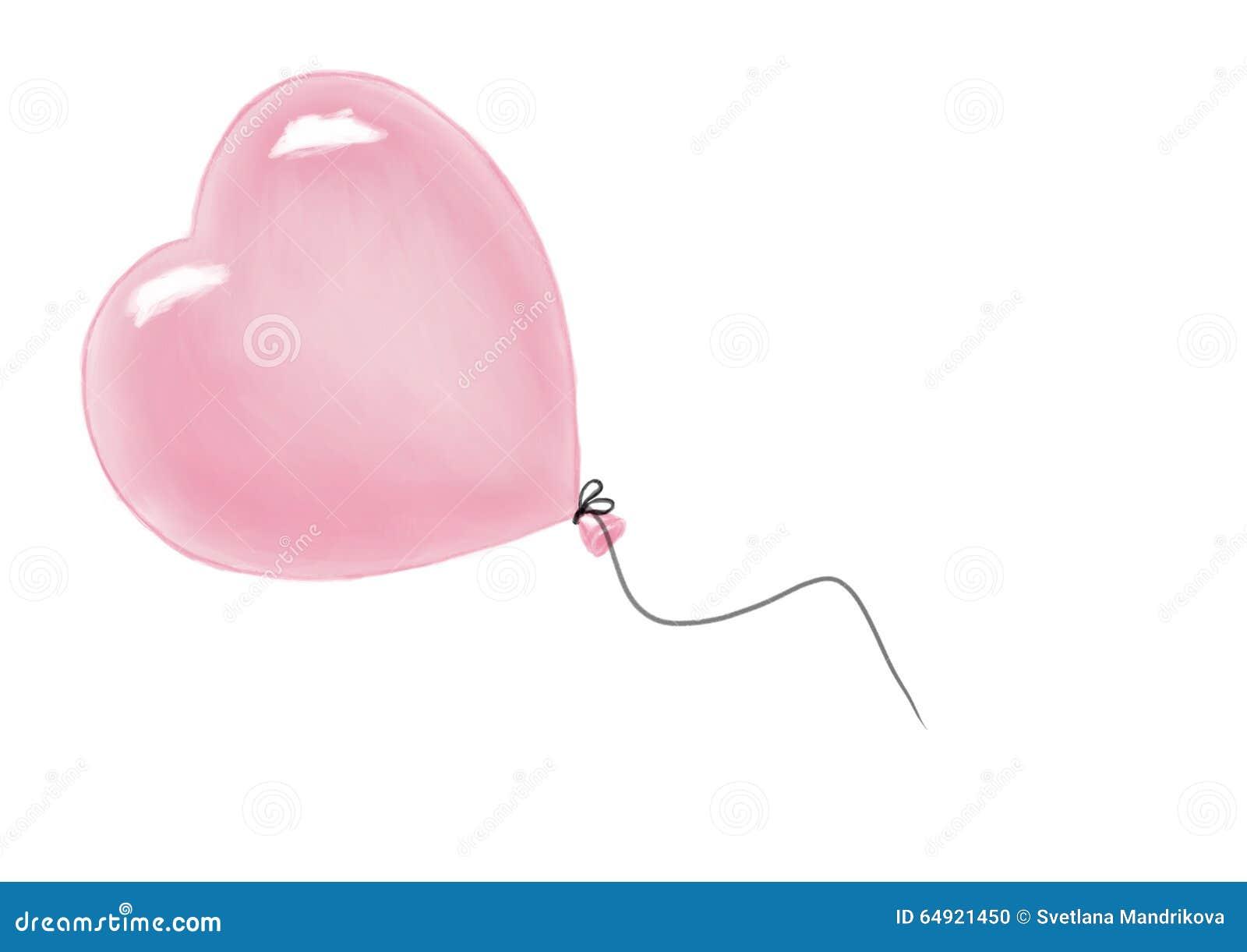 Ballon à air de forme de coeur