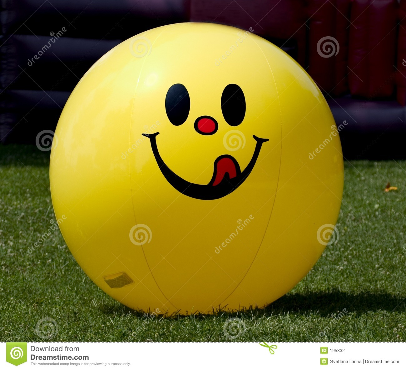 Ballon à air de sourire