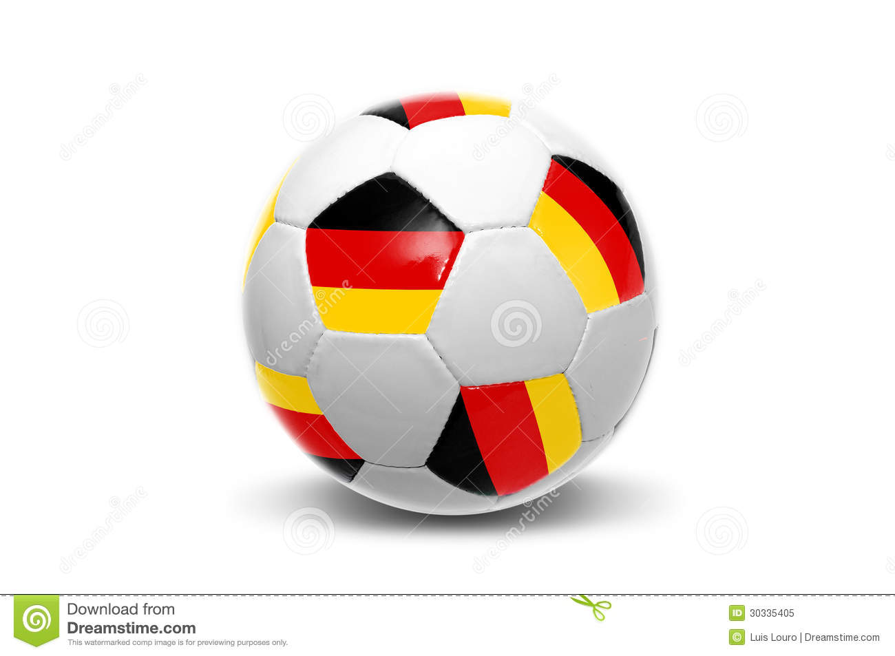 ballon de football allemand de drapeau image stock image du cuvette quipe 30335405. Black Bedroom Furniture Sets. Home Design Ideas