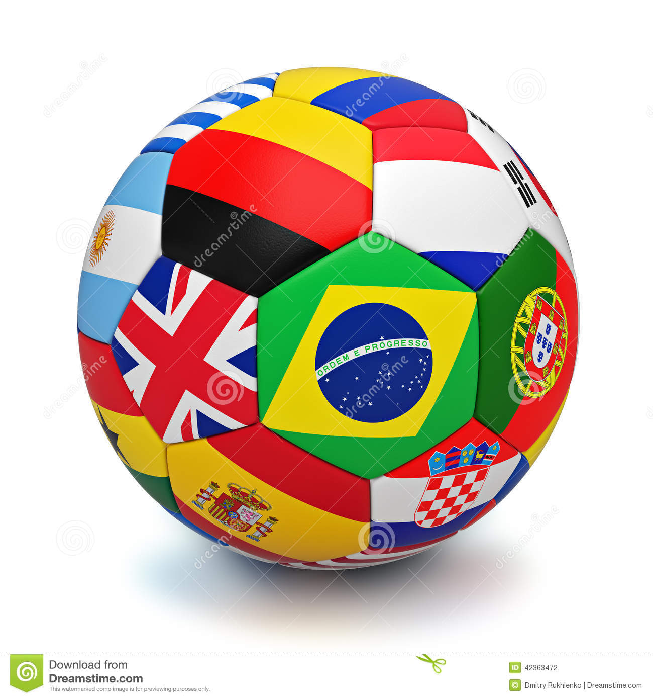ballon de football avec des drapeaux de pays du monde illustration stock image 42363472. Black Bedroom Furniture Sets. Home Design Ideas