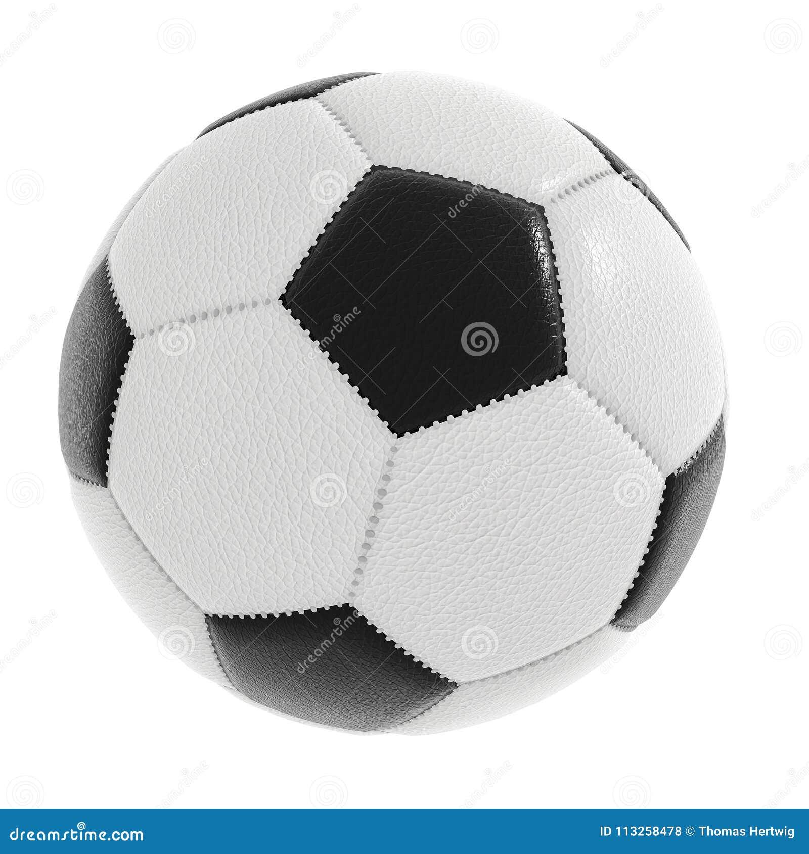 Ballon de football d isolement sur le blanc avec le chemin de coupure inclus