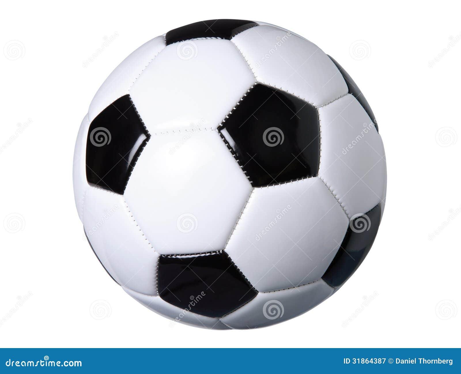 Ballon de football d isolement sur le blanc avec le chemin de coupure