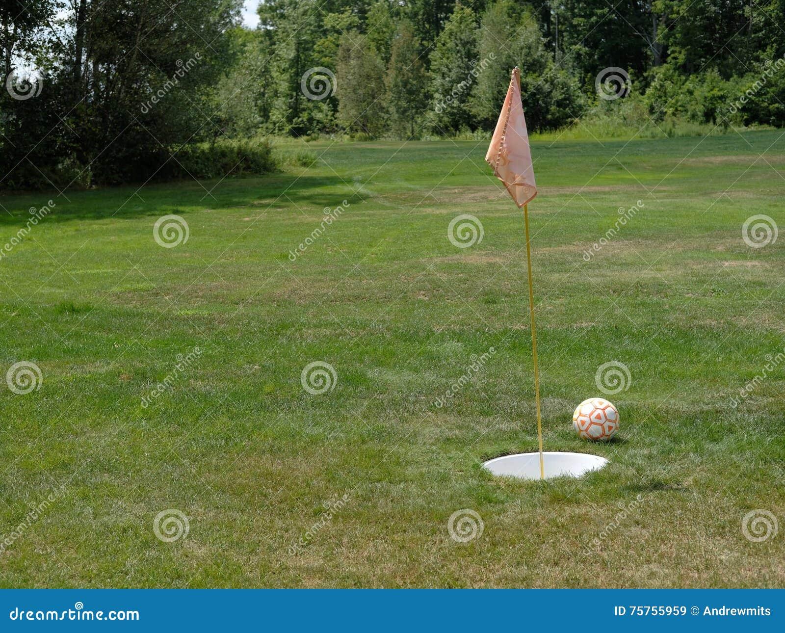 Ballon de football de Footgolf, Flagstick et trou de mise