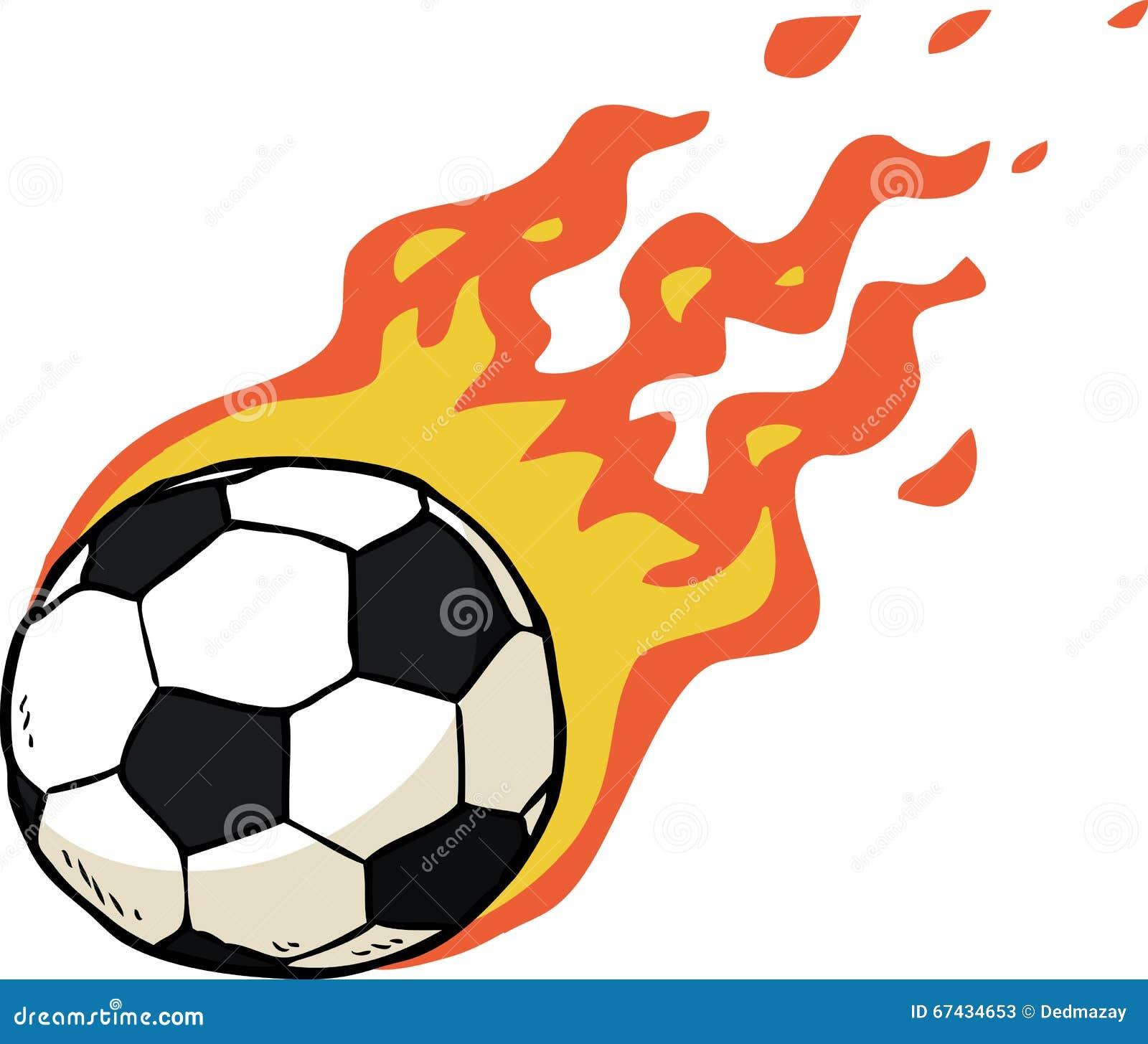 Ballon de football du feu