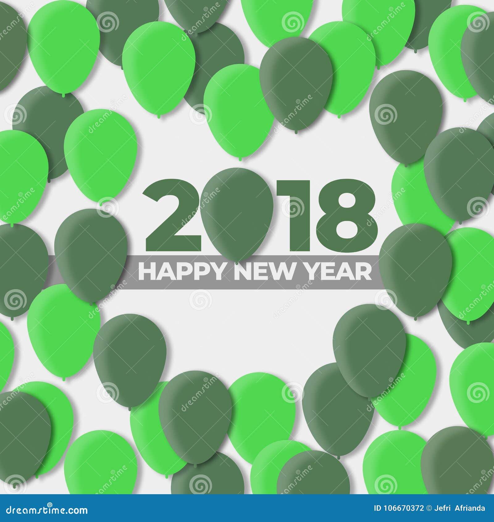 Ballon-Design-Feiertag der guten Rutsch ins Neue Jahr-2018 - 2017
