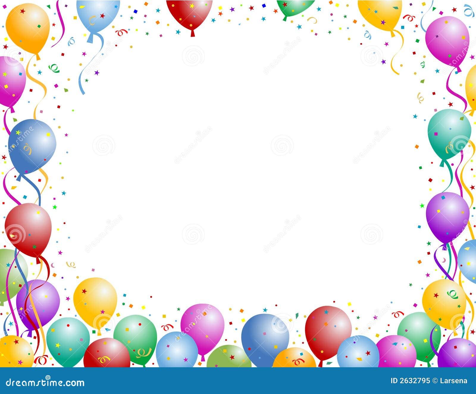 Ballon multicolore du0026#39;anniversaire avec les confettis et la bande