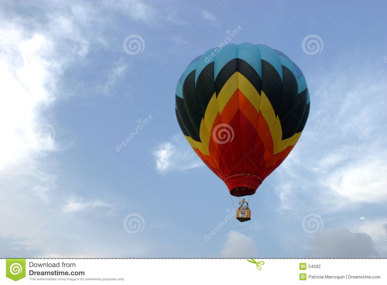 Download Ballon Montant Dans Le Ciel Photo stock - Image du nuages, flotteur: 54592