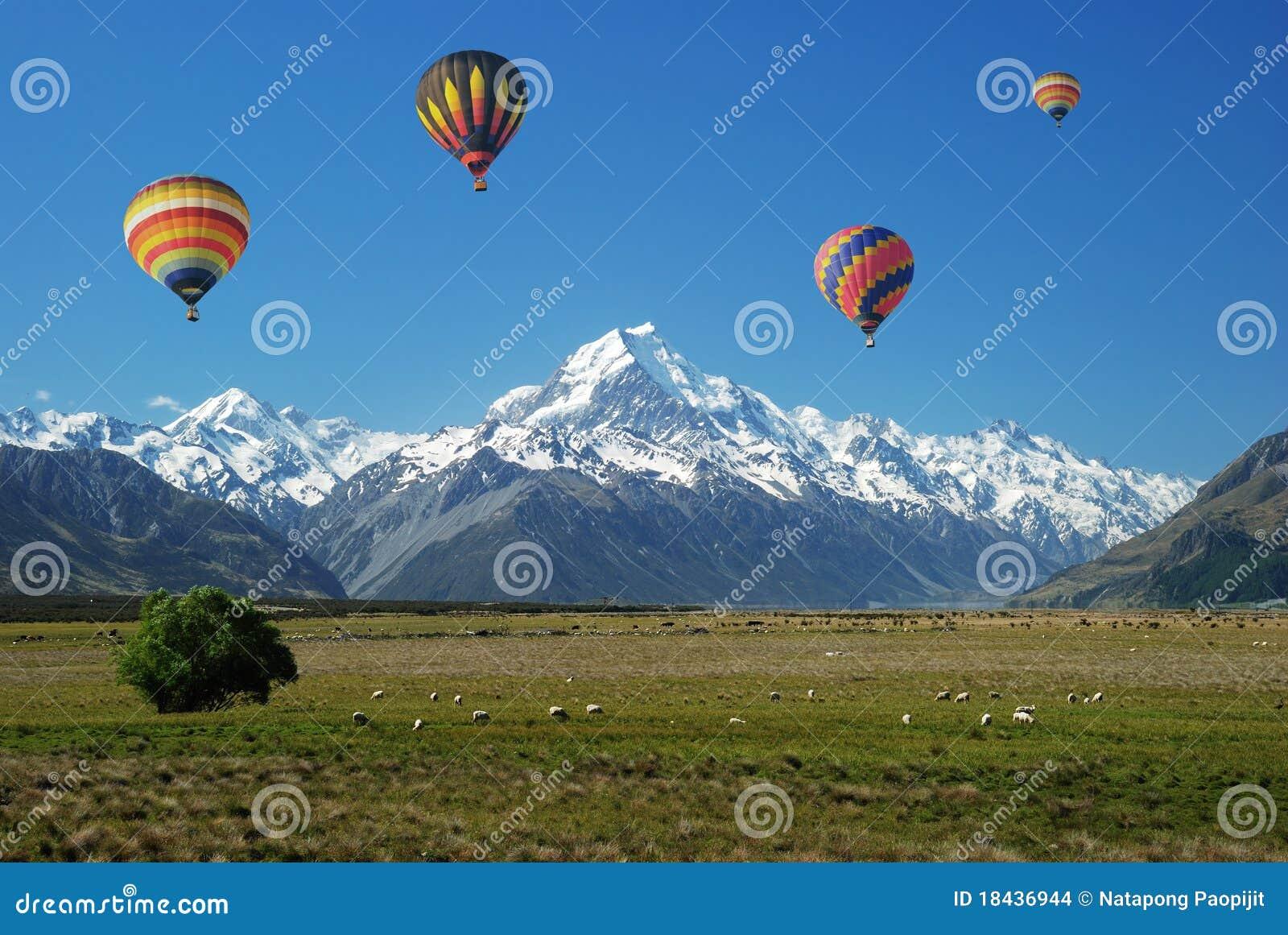 Ballon omhoog in de hemel