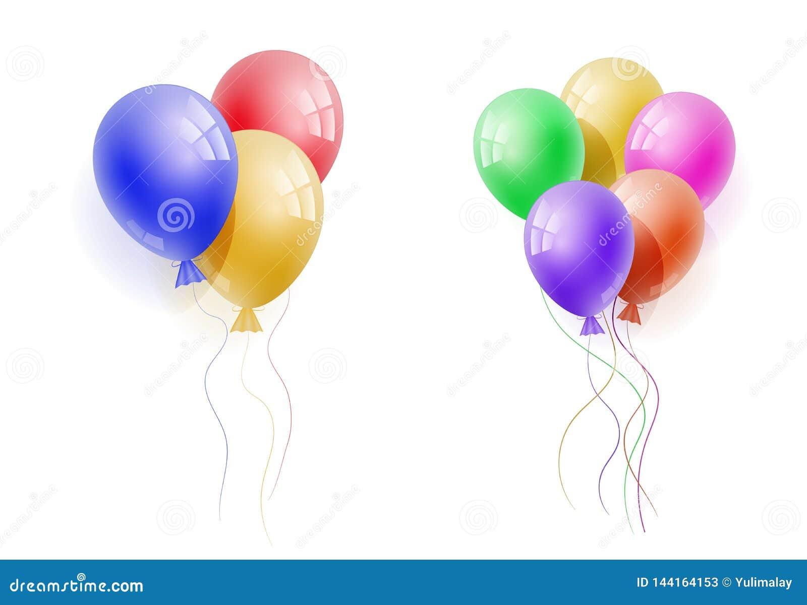 Ballon réaliste du vecteur 3d