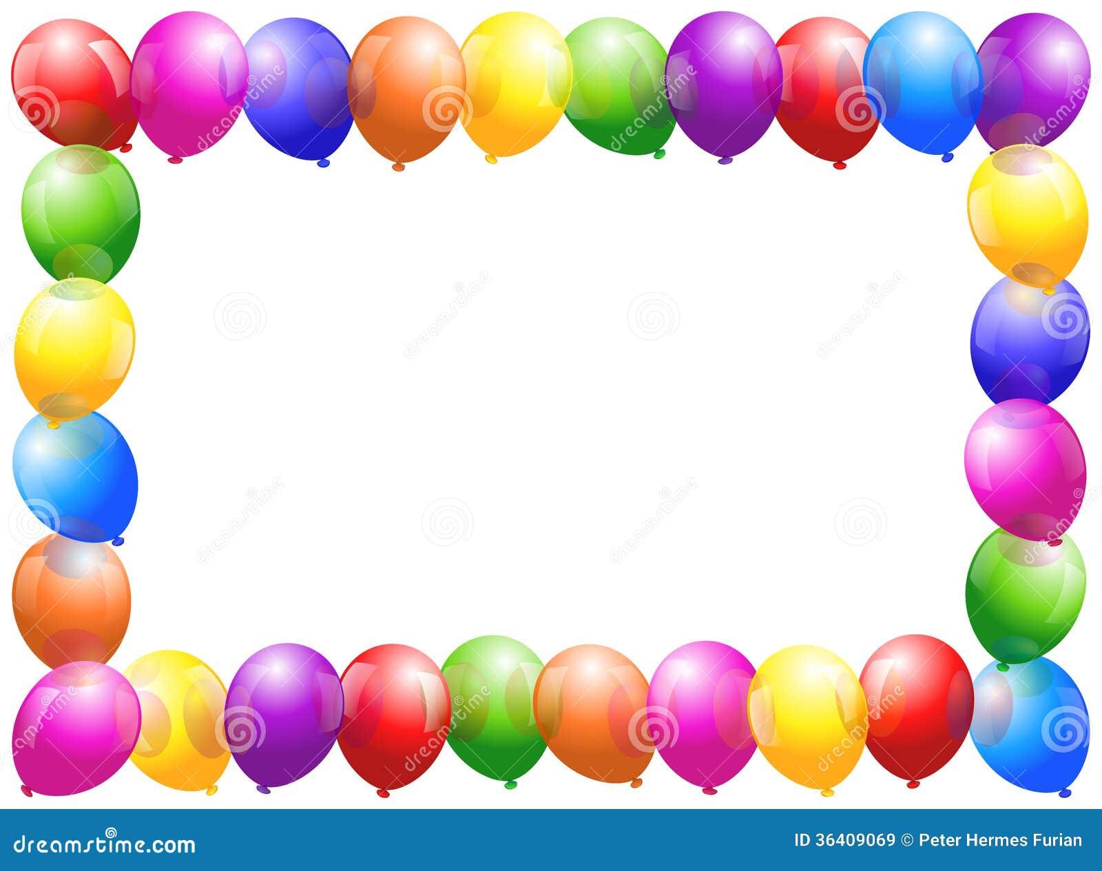 Ballon-Rahmen vektor abbildung. Illustration von fall - 36409069