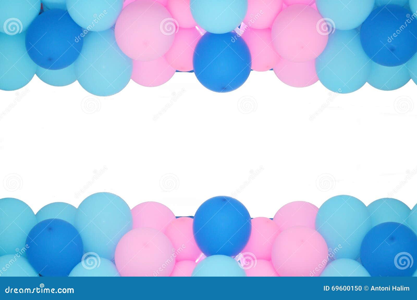 Ballon-Rahmen stockfoto. Bild von hintergrund, ballon - 69600150