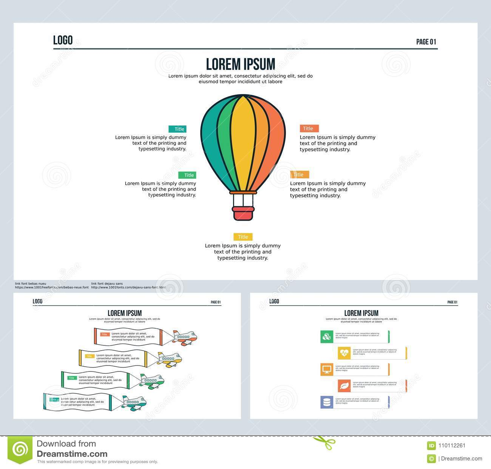 download ballon water plane set presentation slide and powerpoint template stock illustration illustration
