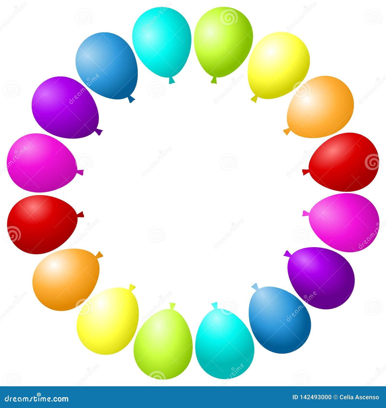 Ballone gestalten Partei-bunten Regenbogen