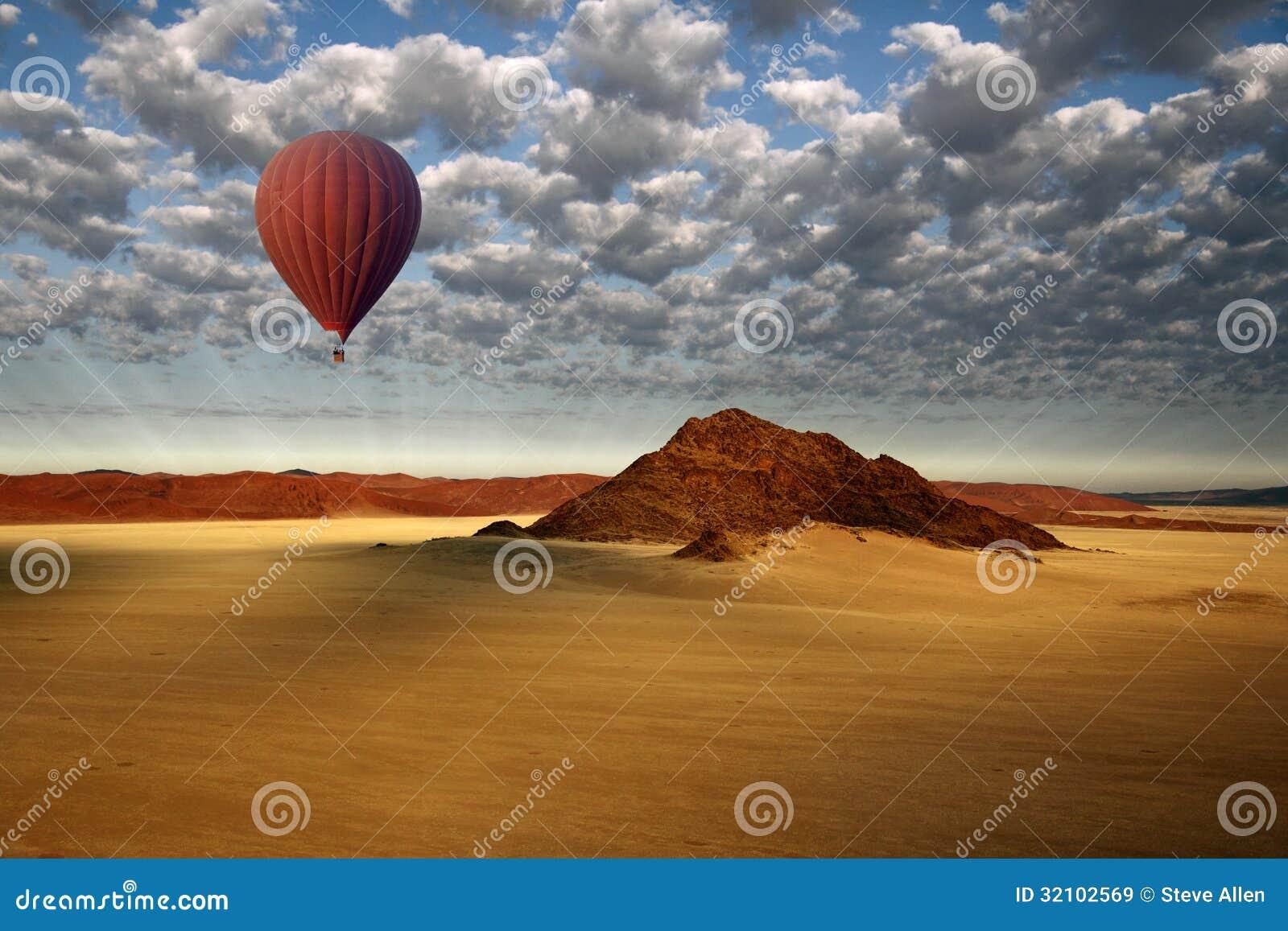 Ballong för varm luft - Sossusvlei - Namibia
