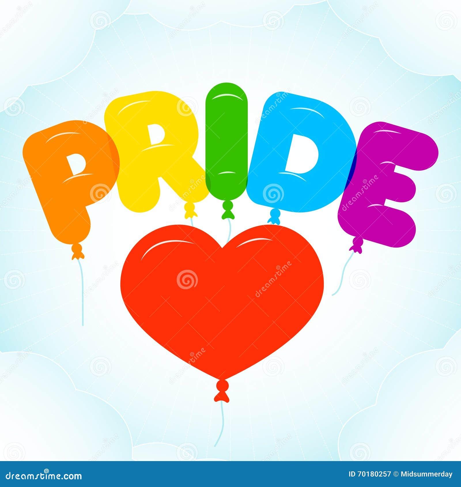 Ballongbokstäver för Pride Month