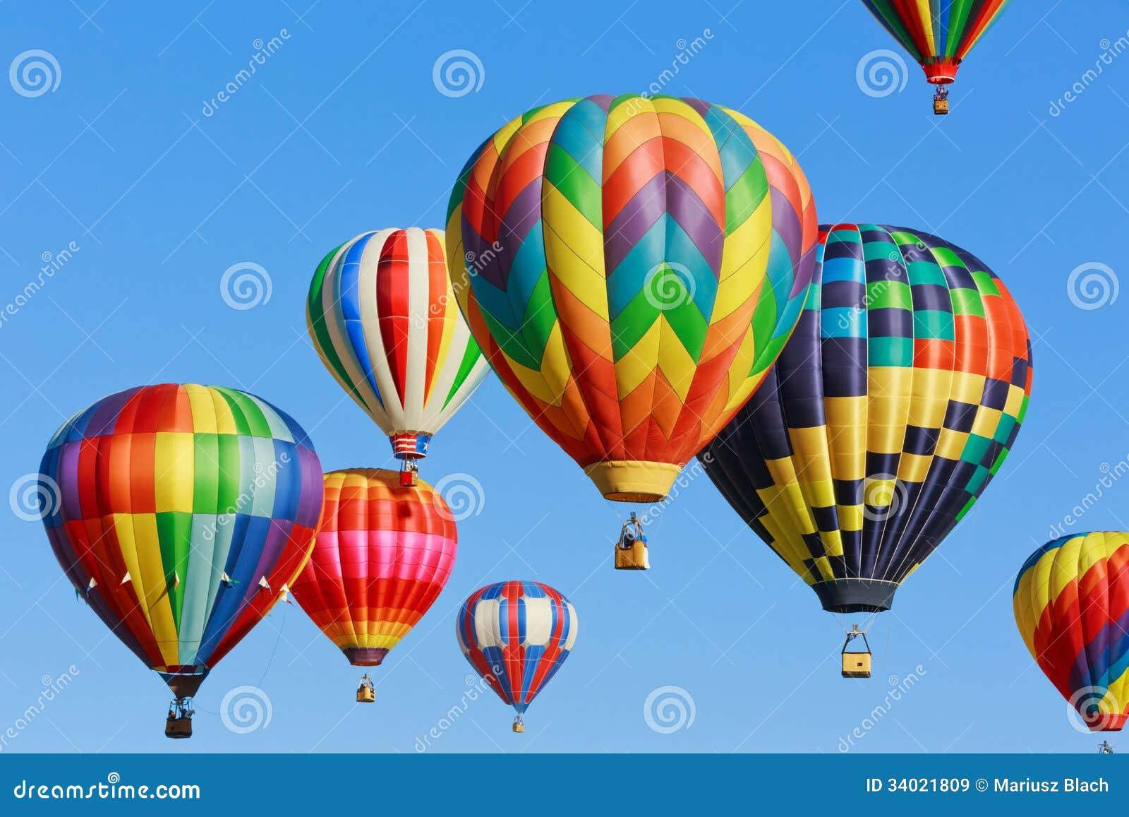 Ballonger för varm luft