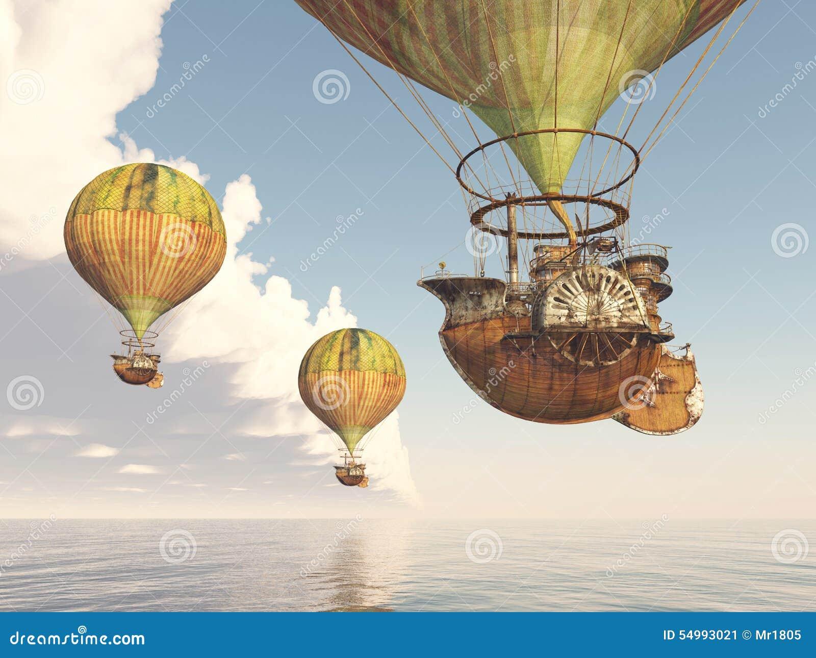 Ballonger för varm luft för fantasi