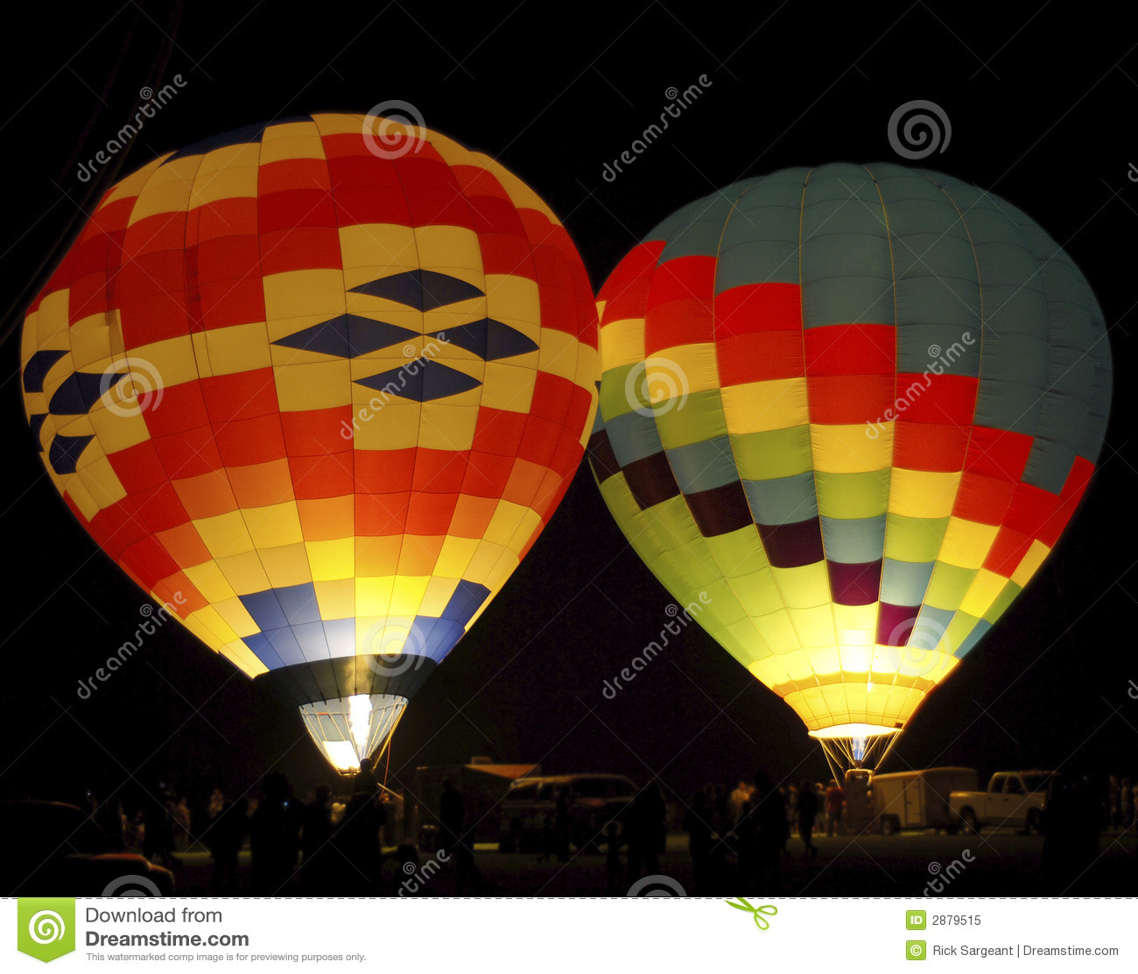 Ballons à air chauds colorés