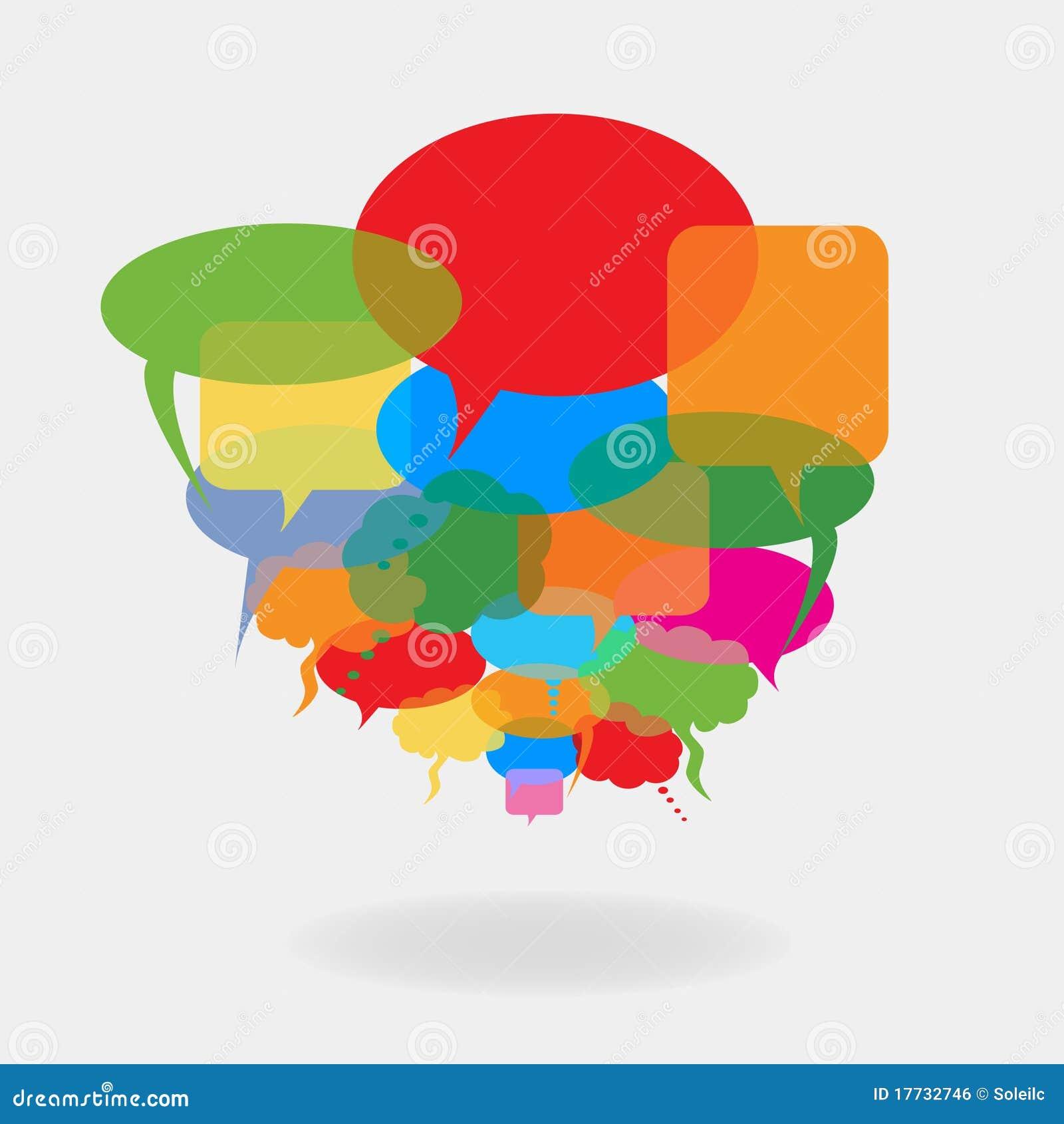 Ballons colorés de la parole