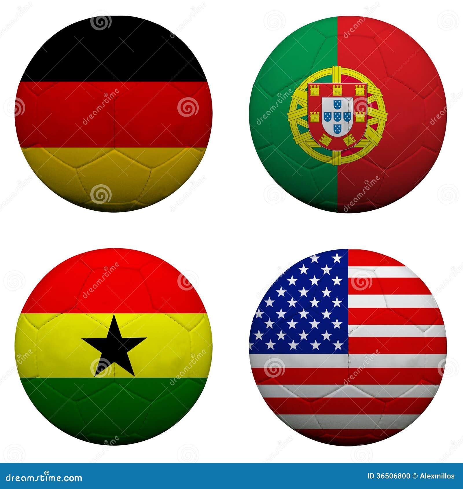 Ballons de football 3D avec des équipes du groupe G