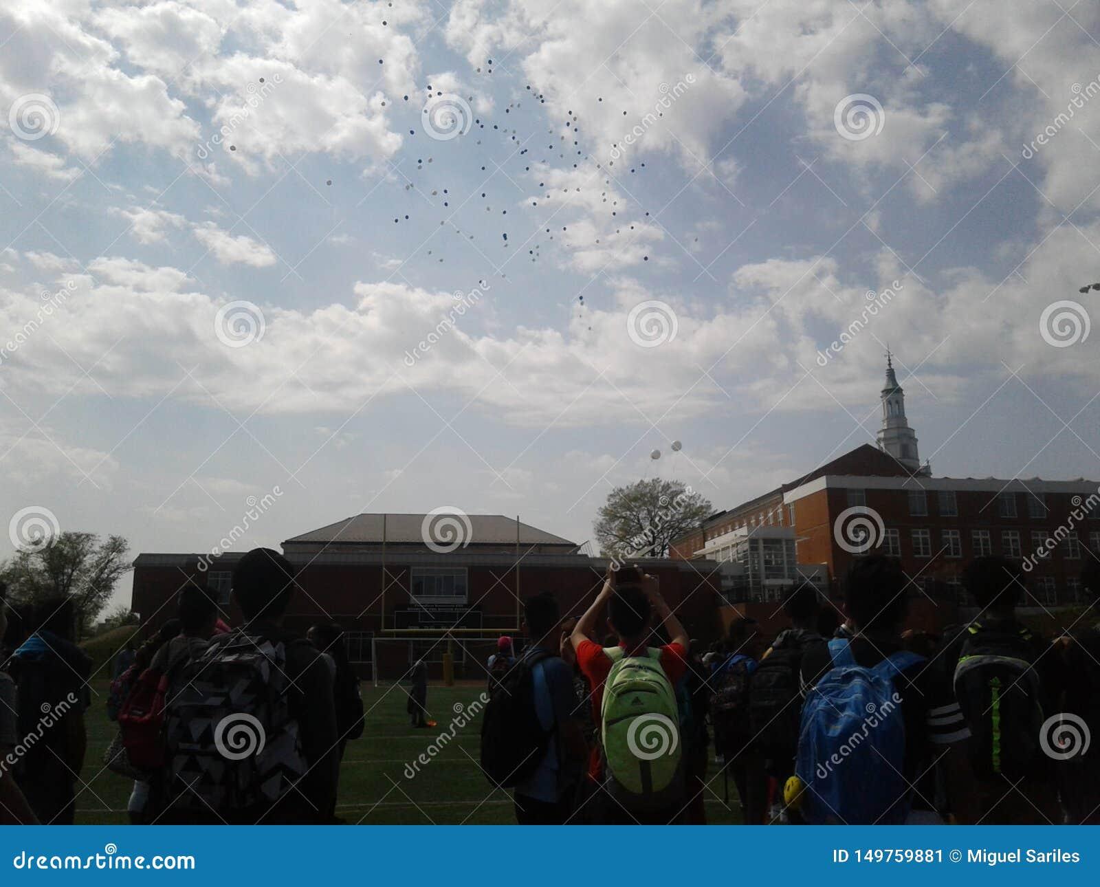 Ballons de lycée