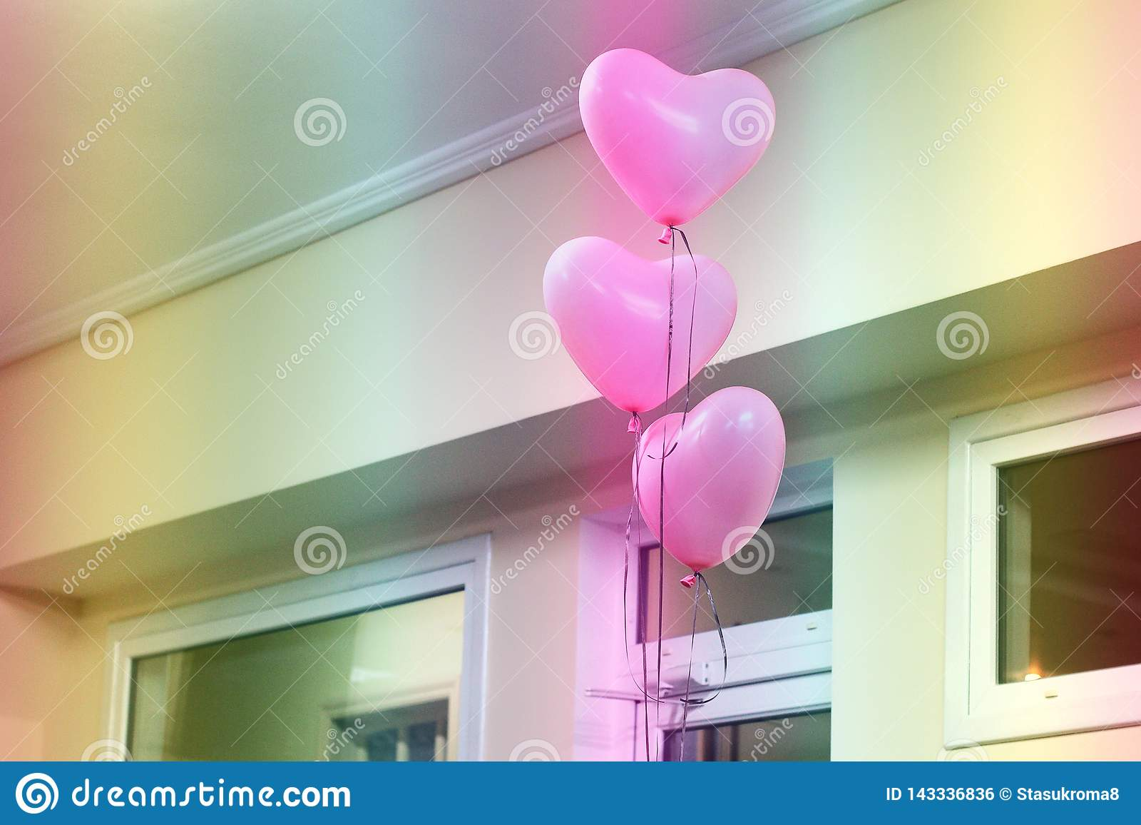 Ballons in de vorm van een hart Roze Ballons