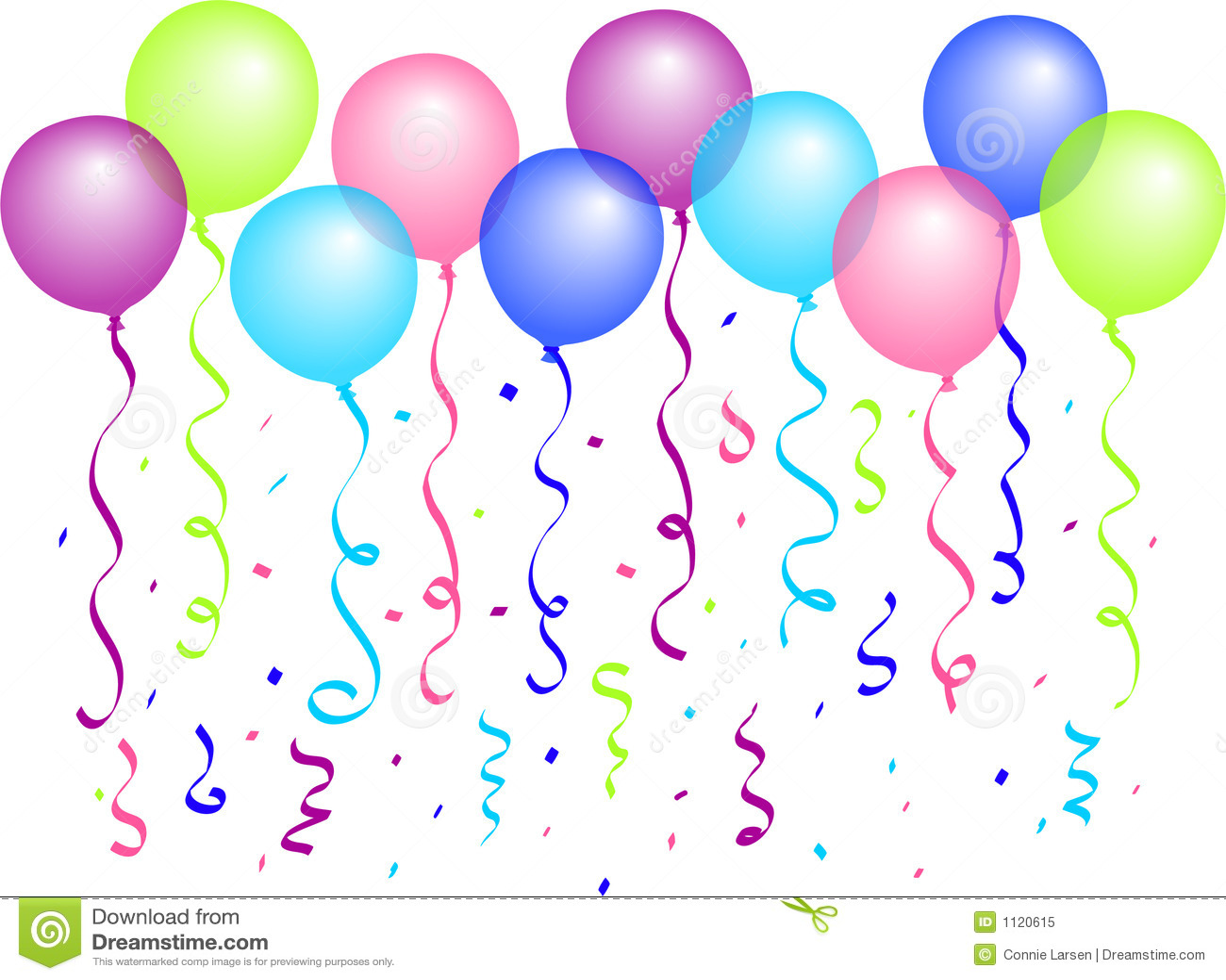 Ballons et confettis/ENV