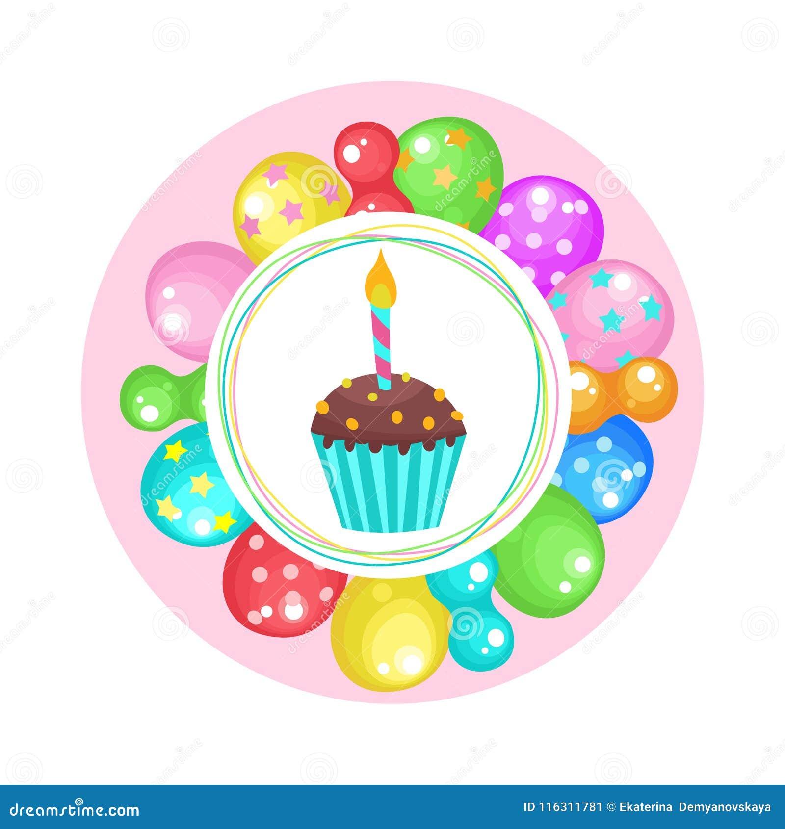 Ballons Et Gateaux Joyeux Anniversaire Clipart De Vecteur Illustration De Vecteur Illustration Du Clipart Gateaux 116311781