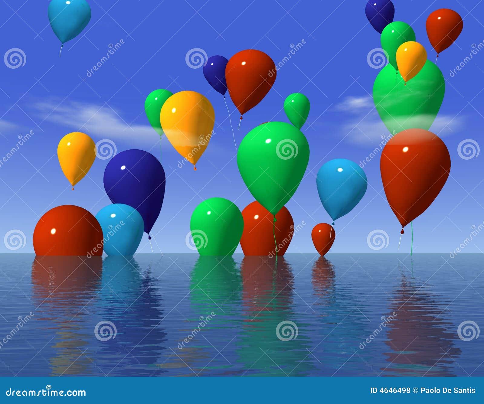 Ballons na água