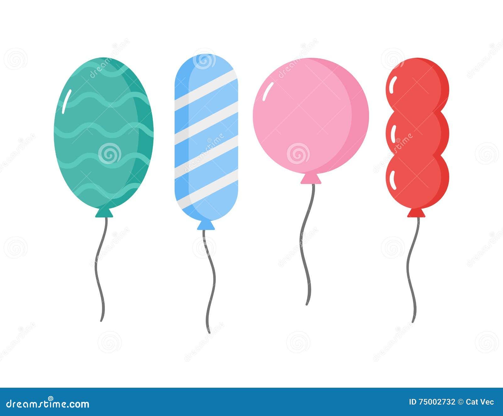 Ballons vectorillustratie