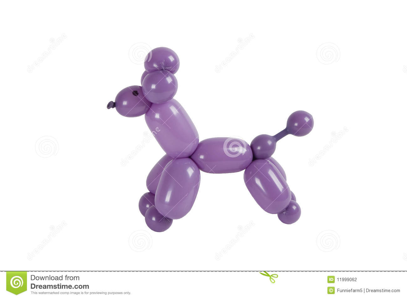 Balloon Animal Poodle Isolated Stock Photography - Image: 11999062