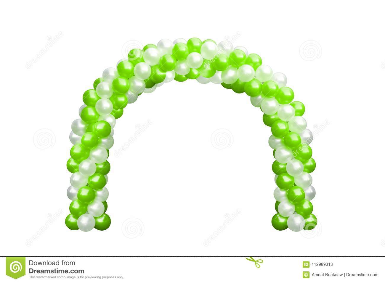 Balloon Archway door Green and white, Arches wedding, Balloon Festival design decoration elements with arch floral design isolated