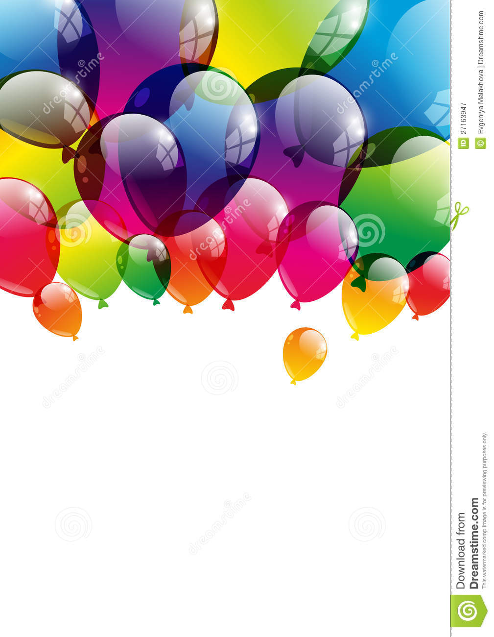 Balloon background royalty free stock photography image 27163947