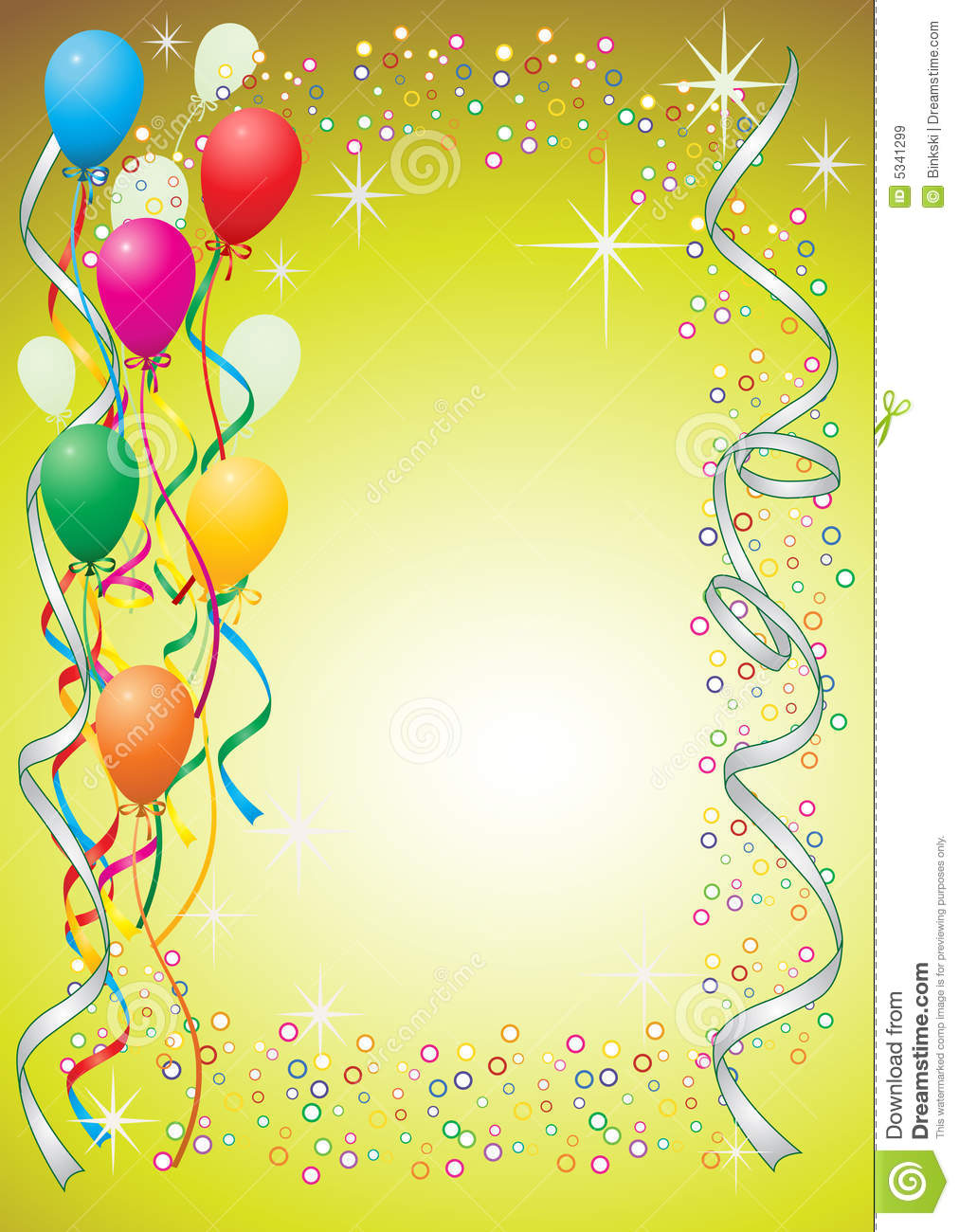 Balloon Background Royalty Free Stock Images - Image: 5341299