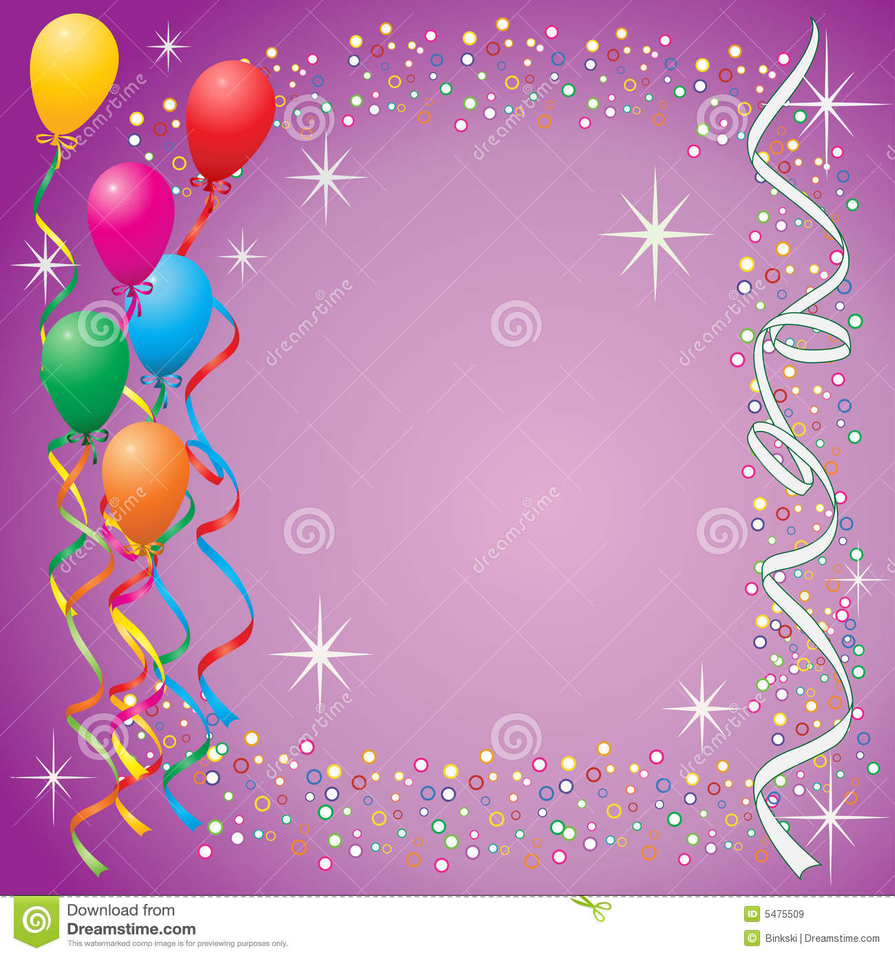 Balloon Background Royalty Free Stock Images - Image: 5475509