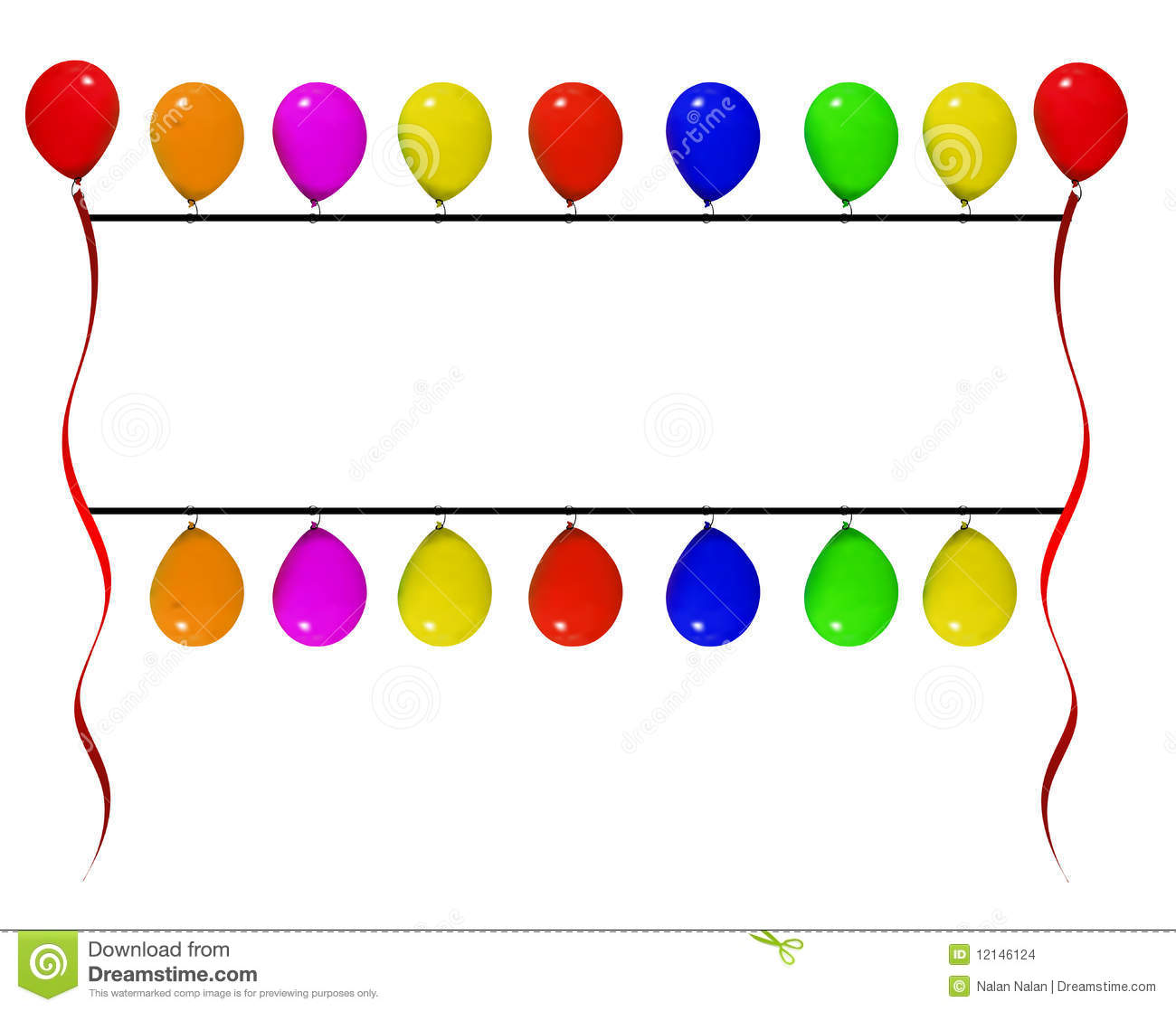 Balloon Banner Clip Art Balloon banner stock images