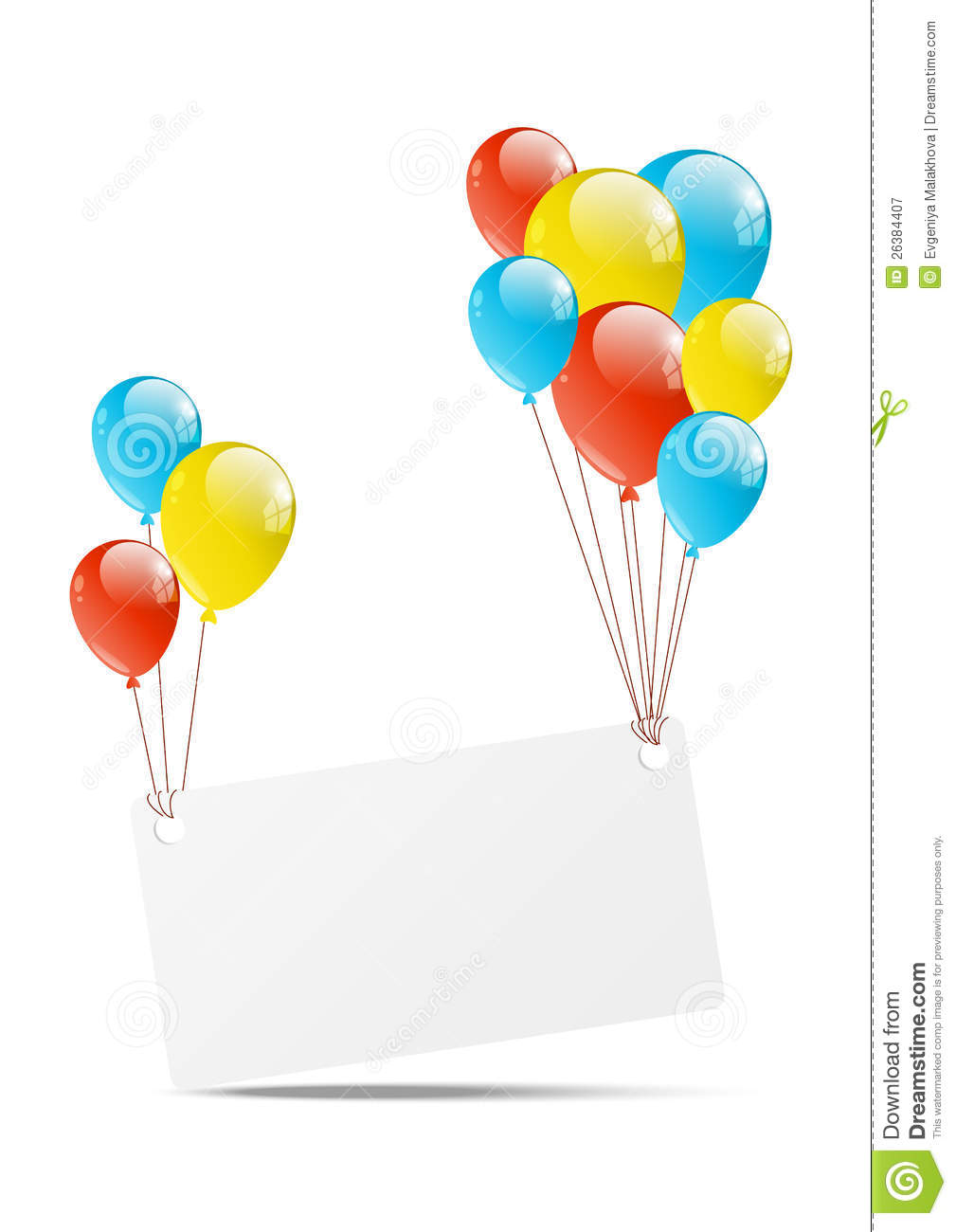 Balloon With Banner Royalty Free Stock Photography - Image ...