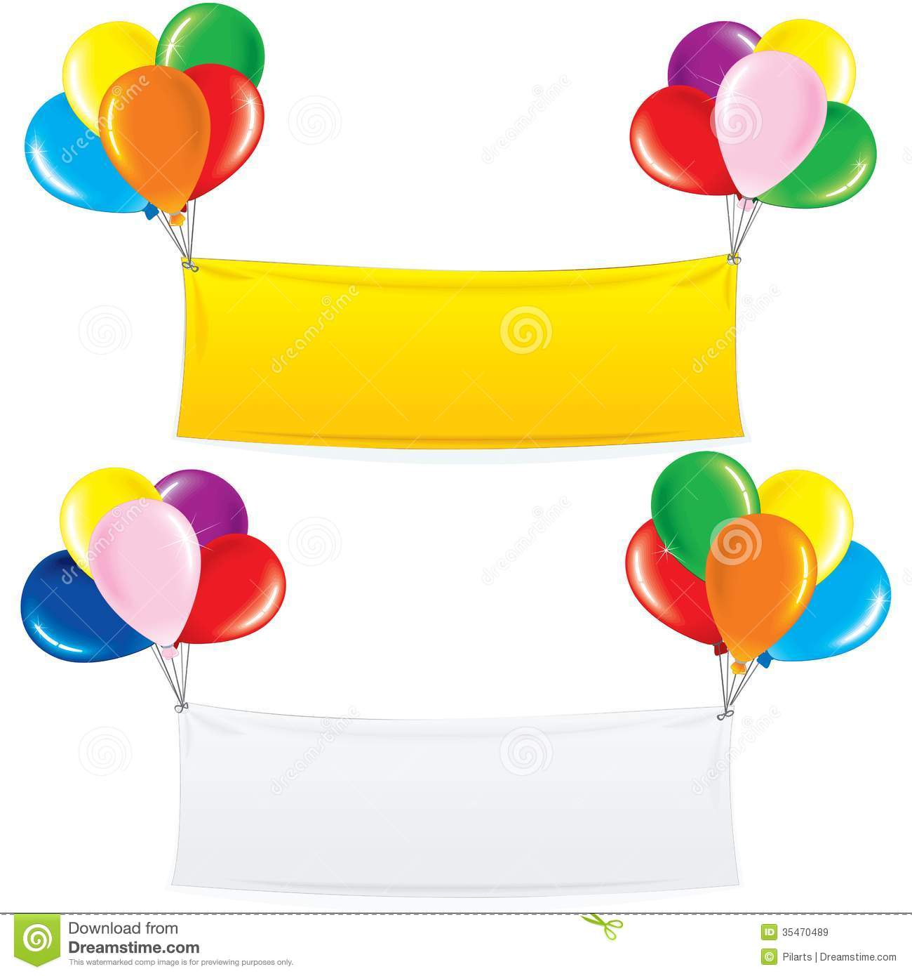 The gallery for confetti and balloons clipart for Balloon banner decoration