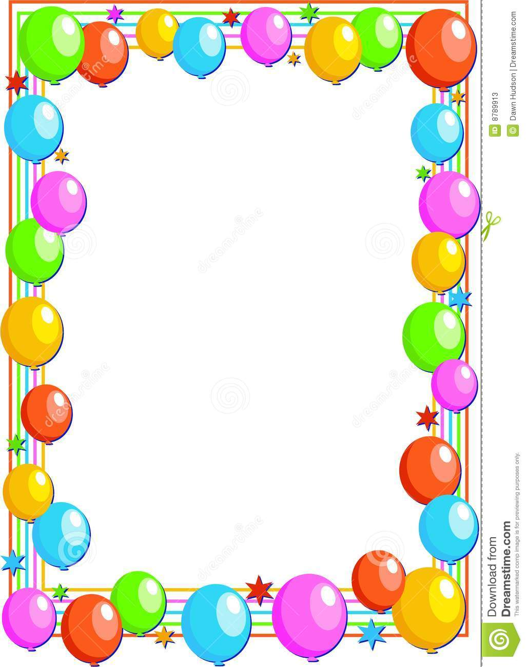Balloon Border Stock Photos - Image: 8789913