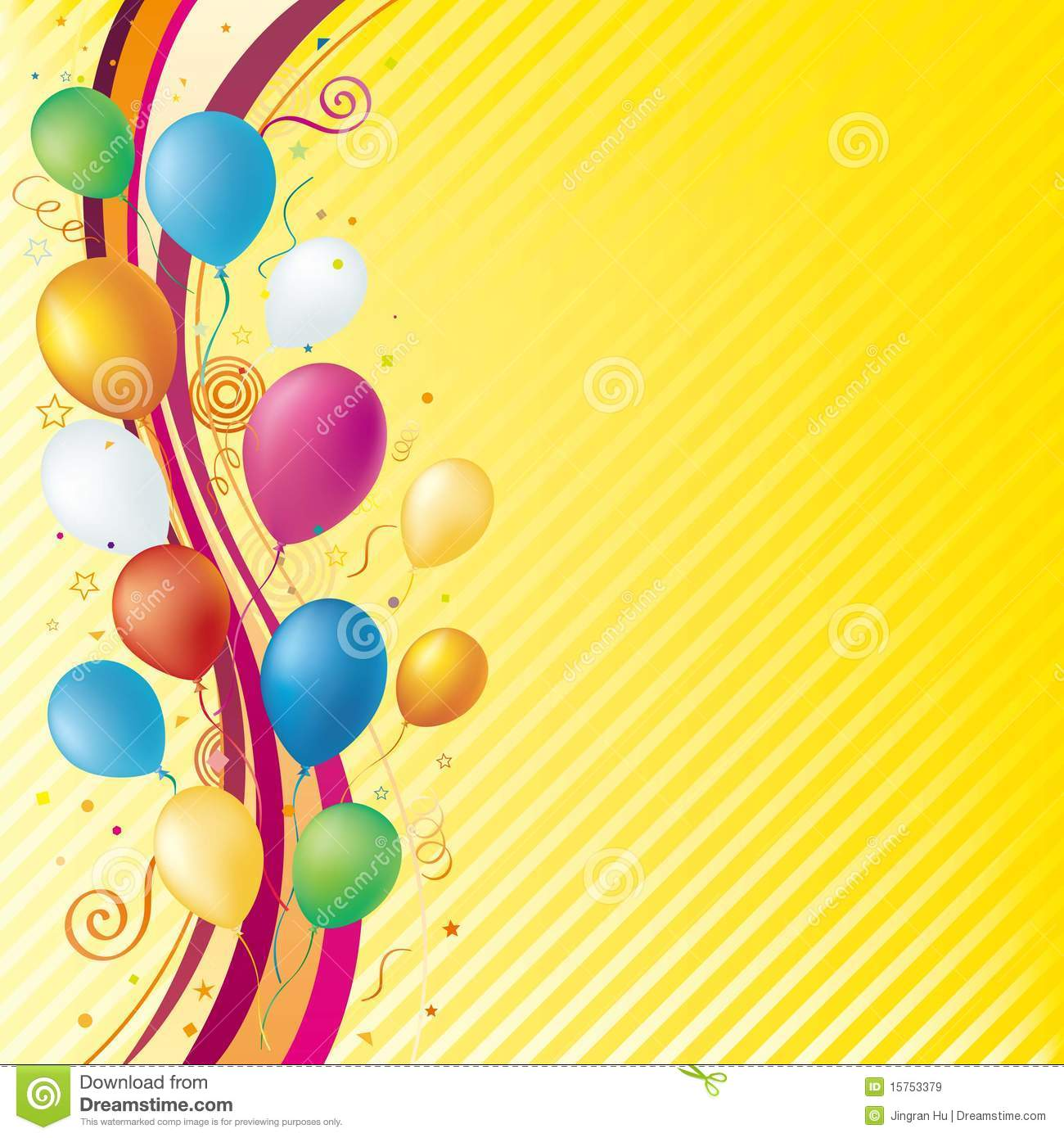 Balloon And Celebration Background Royalty Free Stock