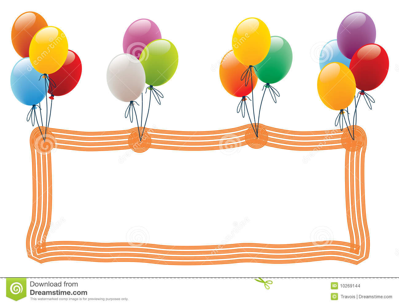 Balloon Frame Stock Images Image 10269144