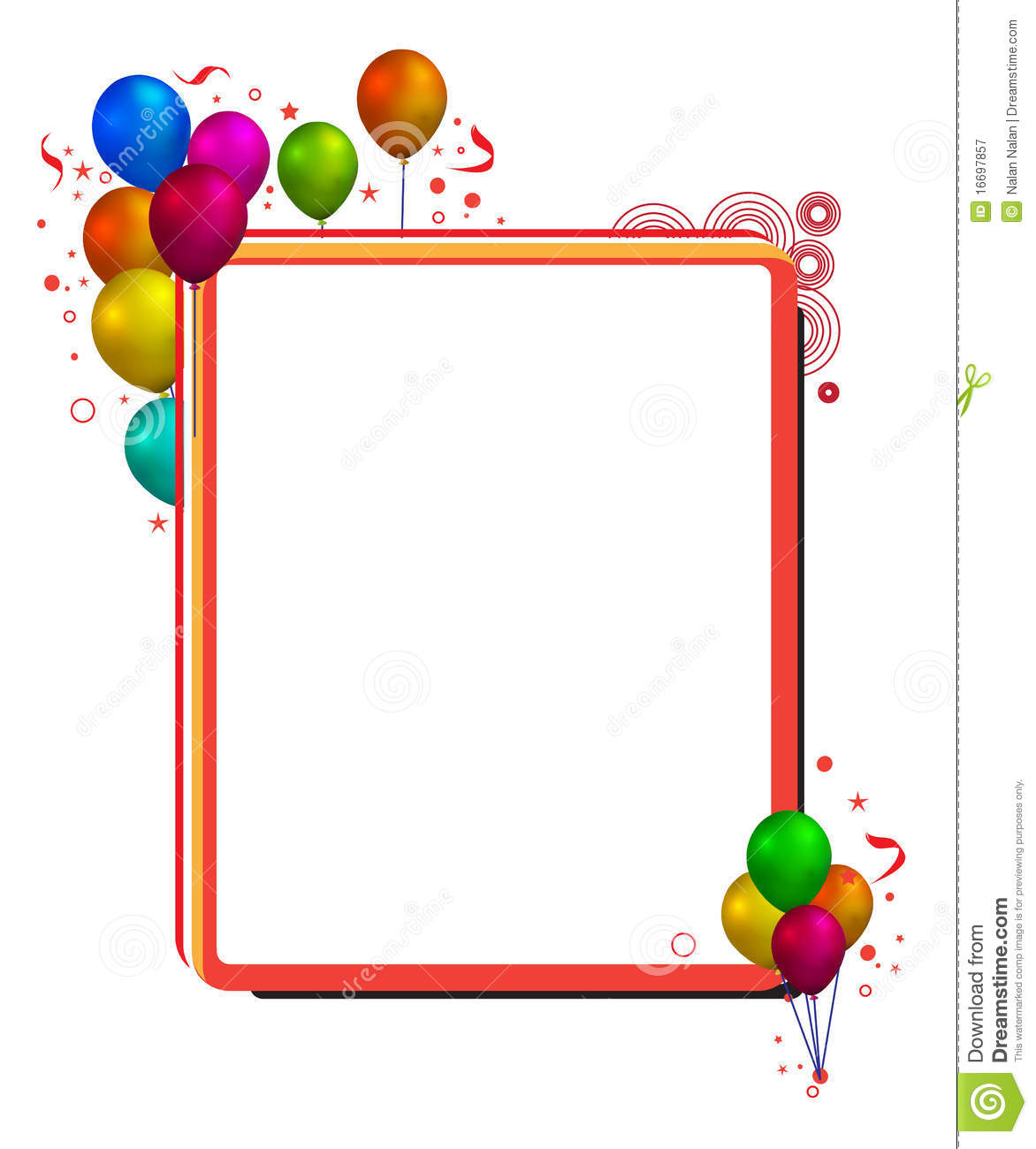 Balloon Frame Royalty Free Stock Photography - Image: 16697857