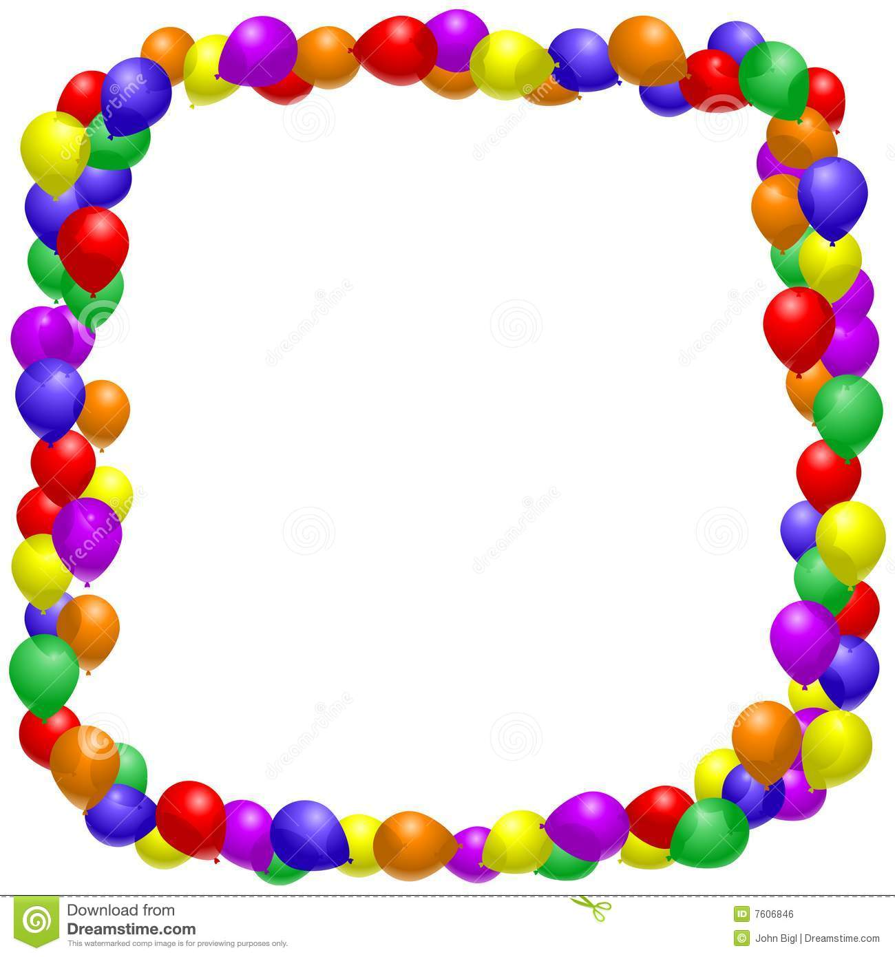 balloon frame royalty free stock image