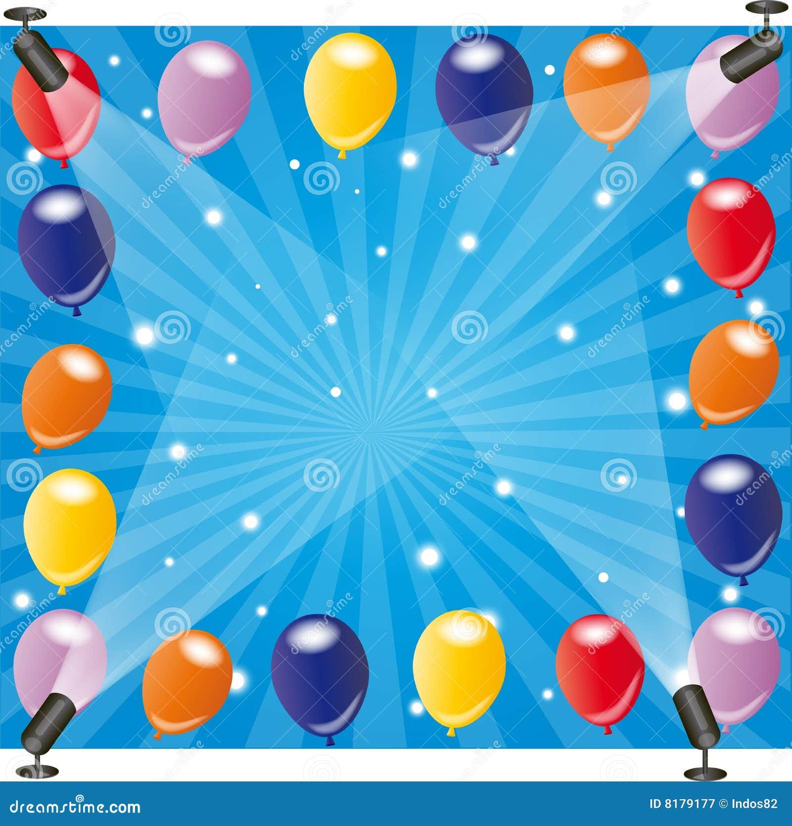 balloon frame with spotlights