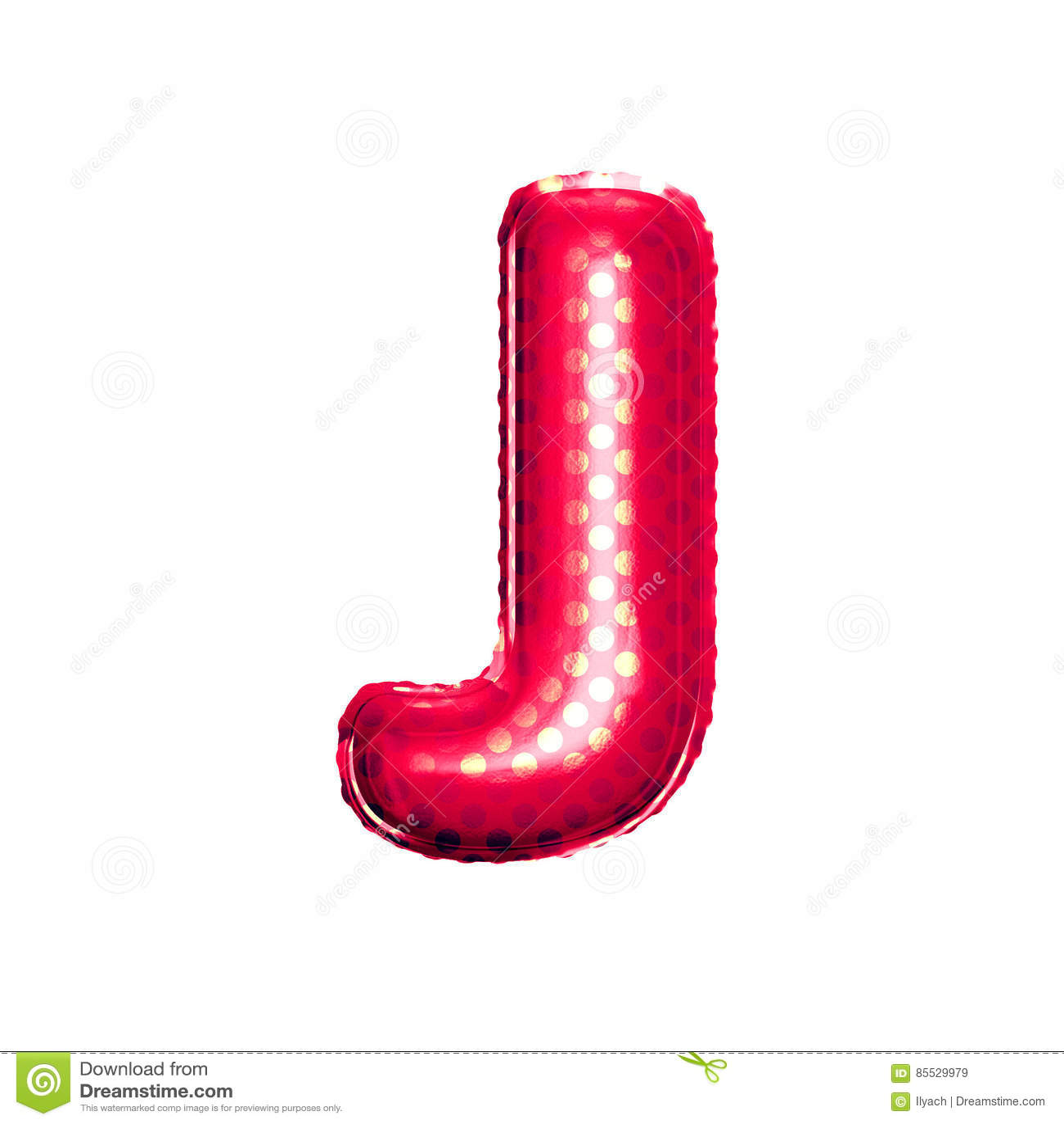 Balloon Letter J 3d Golden Foil Realistic Alphabet Stock